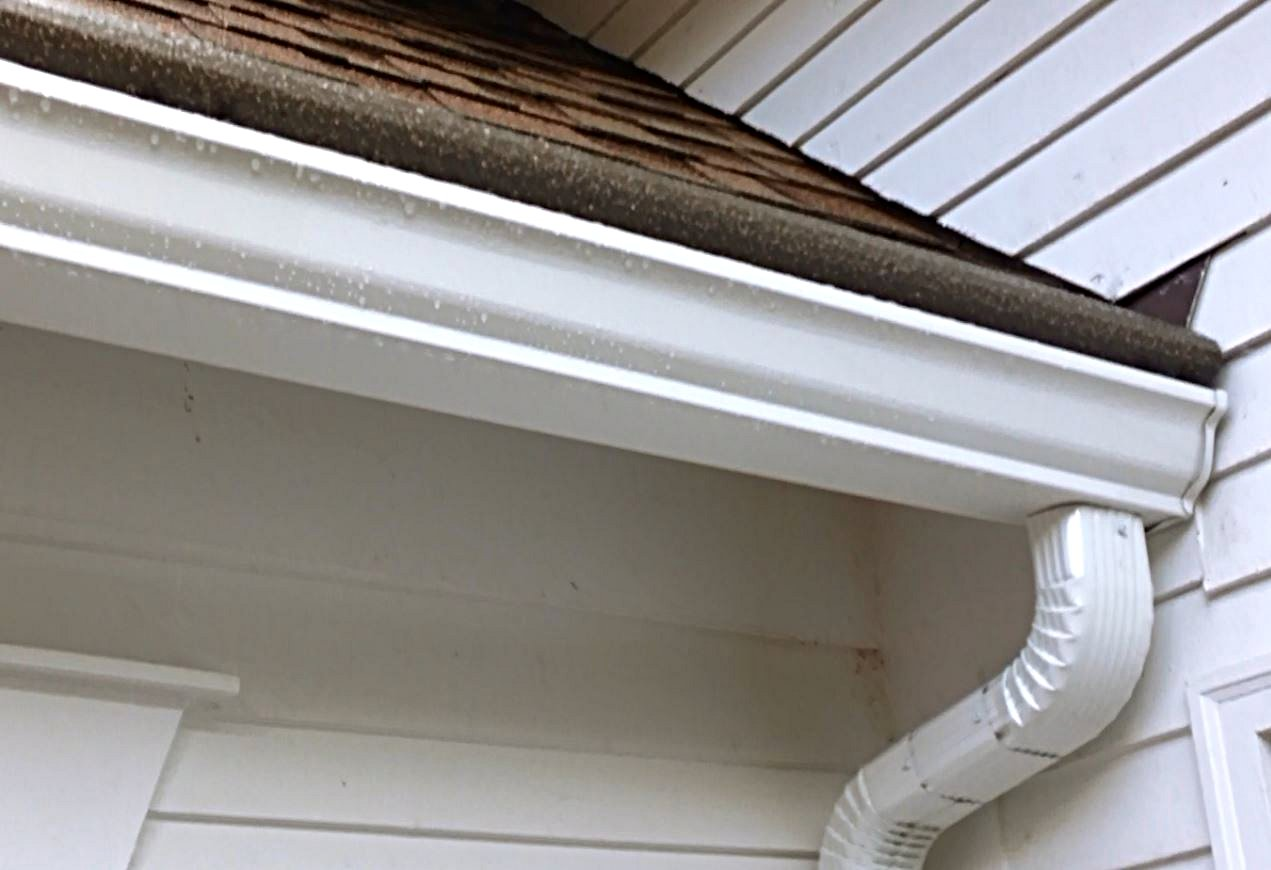 Seamless steel gutters artfully installed with Gutter Helmet.
